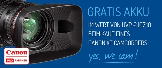 Gratis Akku für Canon XF Camcorder