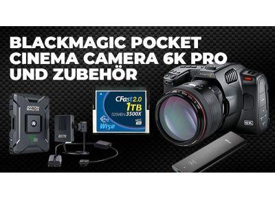 Blackmagic Pocket Cinema Camera 6K Pro und Zubehör