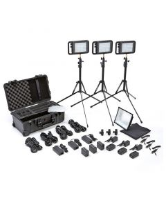Litepanels Lykos+ Bi-Color Flight Kit with Battery Bundle - EU Set