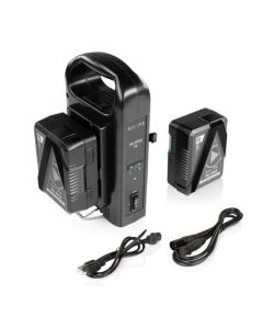 SHAPE two 14.8V 98WH Rechargeable Lithium-Ion V-Mount Batteries with Dual Charger Akku
