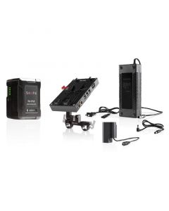 SHAPE 98 Wh Battery Kit D-Box Camera Power and Charger for Panasonic GH4, GH5 Series Ladegerät