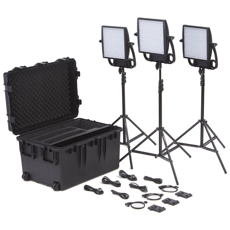 Litepanels Astra 1x1 EP Traveler Trio V-Mount Kit