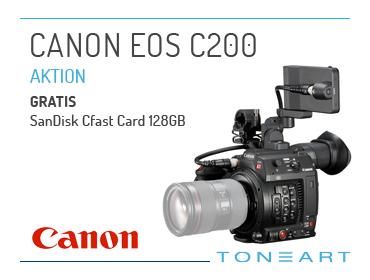 Canon EOS C200 plus gratis CFast Card 128GB