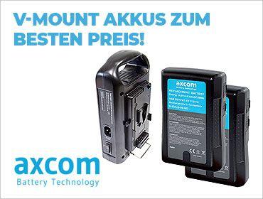 Axcom - V-Mount Akkus zum besten Preis! - TONEART-Shop