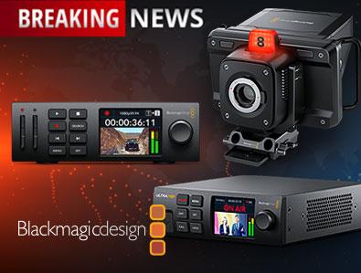 Blackmagic Design Neuheiten, Studio Camera 4K Pro, Web Presenter 4K, TONEART-Shop
