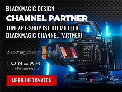 TONEART-Shop ist Blackmagic Channel Partner, TONEART-Shop