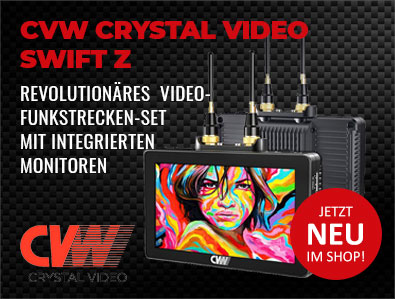 CVW Crystal Video Swift Z - Revolutionäres Videofunkstrecken-Set mit integrierten Monitoren
