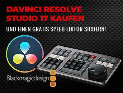 Blackmagic Design DaVinci Resolve Studio 17 plus gratis Speed Editor - TONEART-Shop