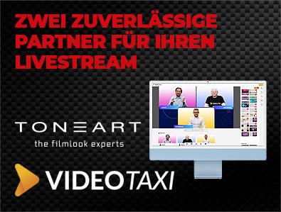 TONEART x Video.Taxi – Alles für Ihren Livestream!