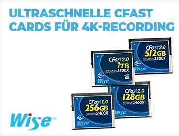 Wise - Ultraschnelle CFast Cards für 4K-Recording - TONEART-Shop