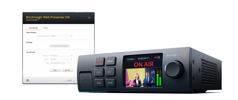 Blackmagic Web Presenter HD Broadcast-Transmitter