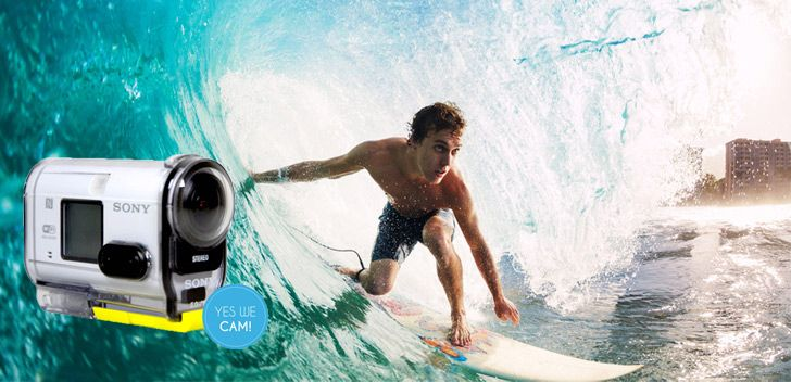 Sony Actioncam HDR-AS100V Surfen
