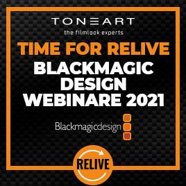 RELIVE Blackmagic Webinare 2021 im TONEART-Shop