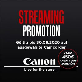 Canon Streaming Promotion