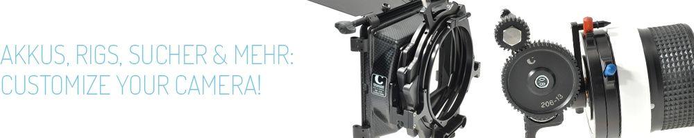 Zubehör - Akkus,Rigs, Sucher und Mehr - customize your camera