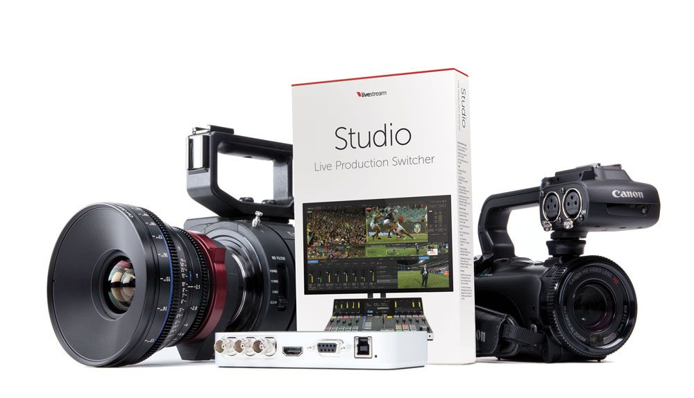 Livestream Studio Software mit Camcorder
