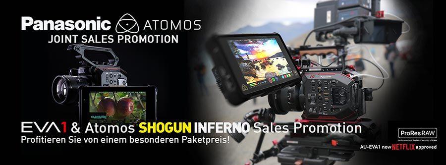 Panasonic EVA1 & Atomos Shogun Inferno Promotion - TONEART-Shop.de