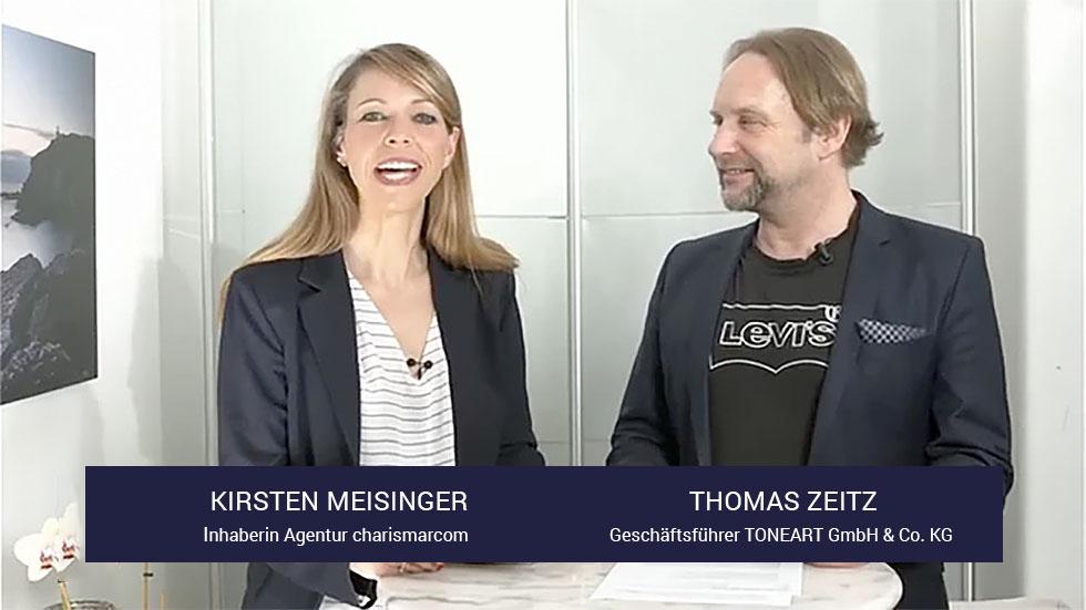 Kirsten Meisinger, charismarcom - Thomas Zeitz TONEART GmbH & Co. KG