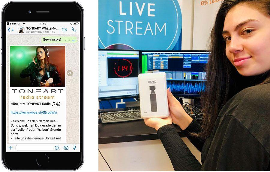 DJI OSMO Pocket Gewinnspiel - TONEART-Shop