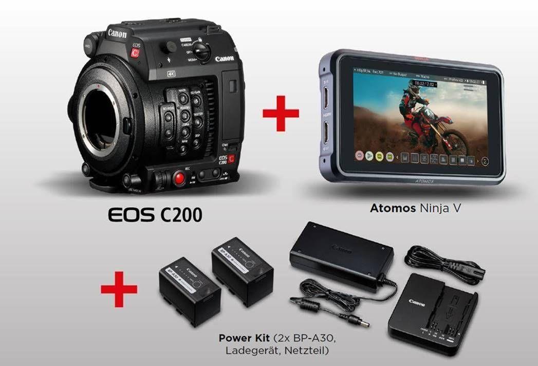 Canon EOS C200 + Atomos Ninja V + Power Kit